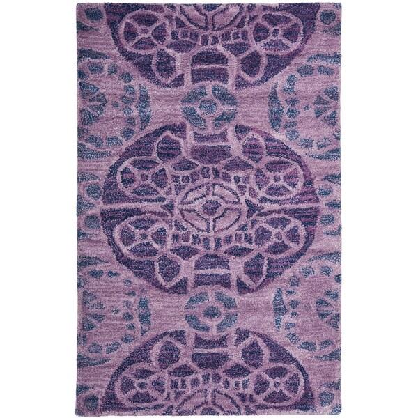 Safavieh Handmade Wyndham Purple Wool Rug (3' x 5')