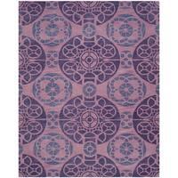 Safavieh Handmade Wyndham Purple Wool Rug - 8'9 x 12'