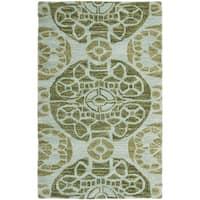 Safavieh Handmade Wyndham Turquoise Wool Rug (3' x 5') - 3' x 5'
