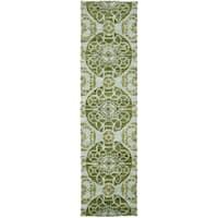 Safavieh Handmade Wyndham Turquoise Wool Rug - 2'3 x 7'