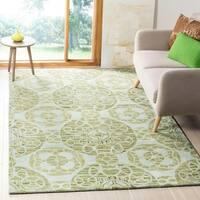 Safavieh Handmade Wyndham Turquoise Wool Rug - 10' x 14'