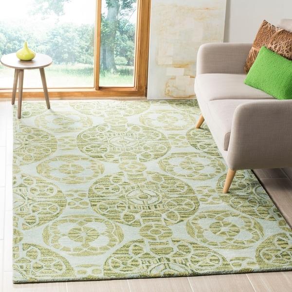Safavieh Handmade Wyndham Turquoise Wool Rug - 8'9 x 12'