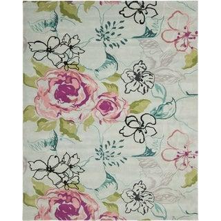 Safavieh Handmade Wyndham Blue Wool Rug (6' x 9')