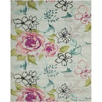 Safavieh Handmade Wyndham Blue Wool Rug (6' x 9') - 6' x 9'