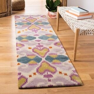 "Safavieh Contemporary Handmade Wyndham Ivory Wool Rug (8'9"" x 12')"