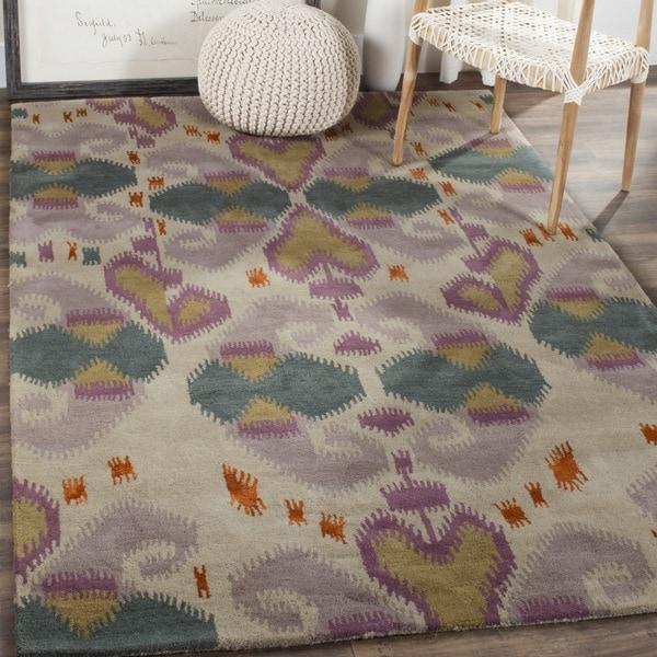Safavieh Contemporary Handmade Wyndham Ivory Wool Rug - 8'9' x 12'