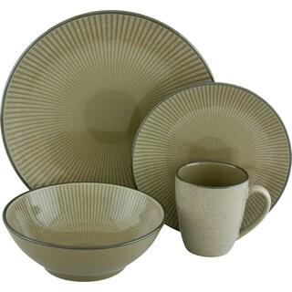 Sango Corona Green 16-piece Dinnerware Set
