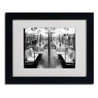 Ariane Moshayedi 'Subway Car' Horizontal Framed Matted Art - Black/White