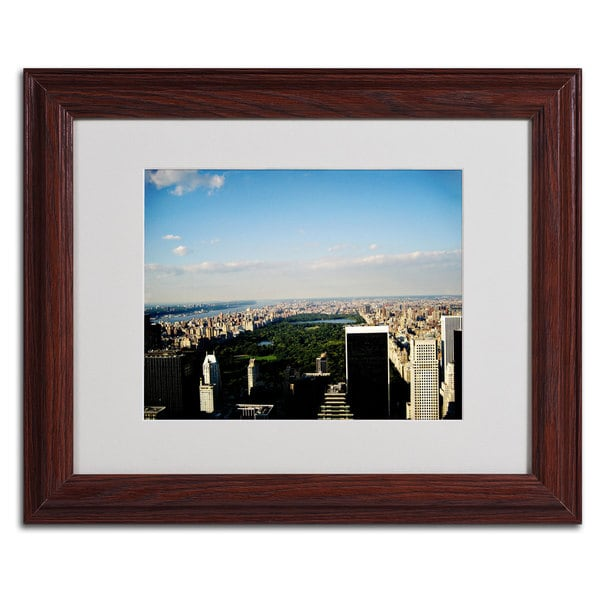 Ariane Moshayedi 'NYC Skies' Horizontal Framed Matted Art