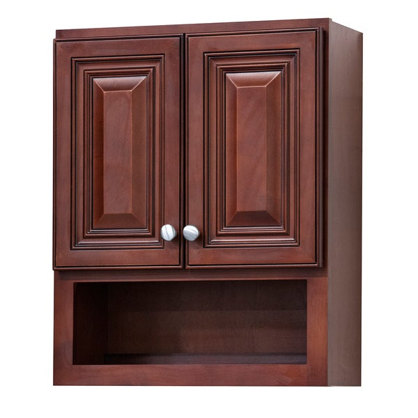 cherry bathroom storage cabinet shop grand reserve cherry wood bathroom wall cabinet 13485