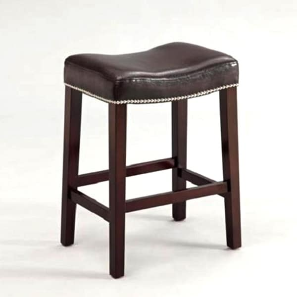 Nailhead Saddle Espresso Leather Counter Height Bar Stools  : Nailhead Saddle Espresso Leather Counter Height Bar Stools Set of 2 796aabd5 58b6 41ae bca2 eba5a01bc1a9600 from www.overstock.com size 600 x 600 jpeg 15kB
