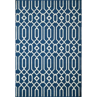 Indoor/ Outdoor Navy Links Rug (1'8 x 3'7)