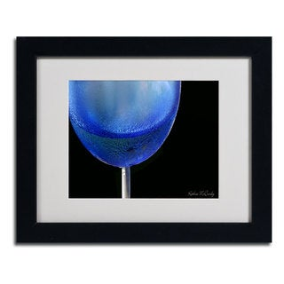 Kathie McCurdy 'Blue Wine Glass' Framed Matted Giclee Art