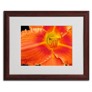 Kathie McCurdy 'Orange Day Lily' Framed Matted Art