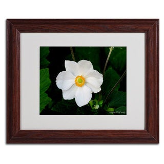 Kathie McCurdy 'Big White Flower' Framed Matted Art