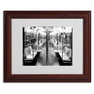 Ariane Moshayedi 'Subway Car' Framed Matted Art