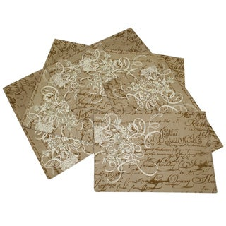 Sentiments Script Print Place Mats (Set of 6)