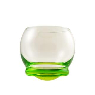 10 Strawberry Street Bell-shaped Green Wobble Glasses (Set of 6)
