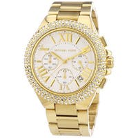 Michael Kors Women's MK5756 'Camille' Gold-Tone Chronograph Watch - Gold/White