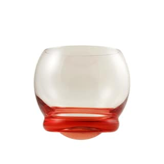 10 Strawberry Street Bell-shaped Red Wobble Glasses (Set of 6)