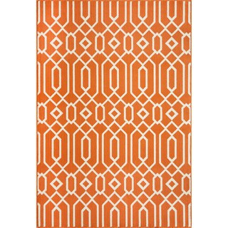 Indoor/ Outdoor Orange Links Rug (8'6 x 13')