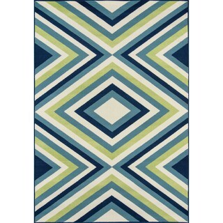 Momeni Baja Zig-Zag Multicolor Indoor/Outdoor Area Rug (6'7 x 9'6)