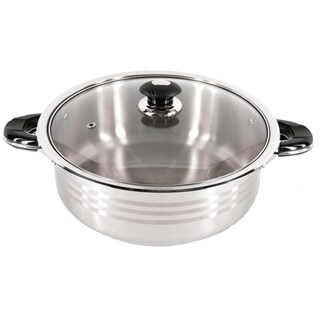 Better Chef 18/10 Stainless Steel Casserole Stew Low Pot with Glass Lid