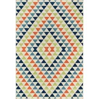 "Momeni Baja Kaleidoscope Multicolor Indoor/Outdoor Area Rug - Multi - 3'11"" x 5'7"""