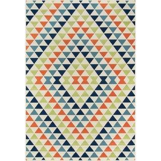 "Momeni Baja Kaleidoscope Multicolor Indoor/Outdoor Area Rug - 3'11"" x 5'7"""