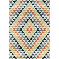 "Momeni Baja Kaleidoscope Multicolor Indoor/Outdoor Area Rug - 5'3"" x 7'6"""