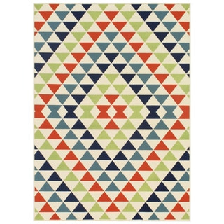 Indoor/ Outdoor Multi Kaleidoscope Rug (8'6 x 13'0)