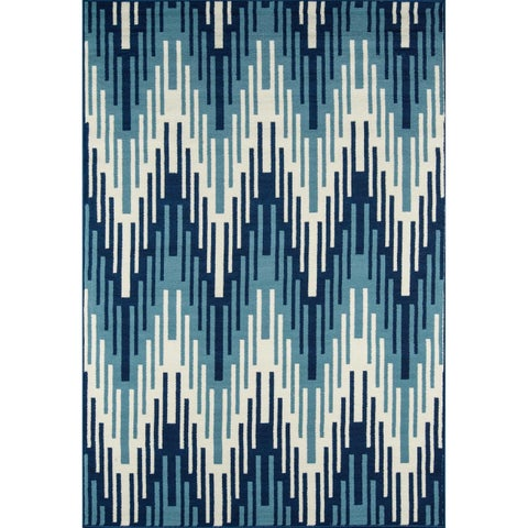 "Momeni Baja Ikat Blue Indoor/Outdoor Area Rug - 7'10"" x 10'10"""