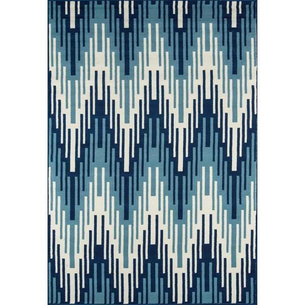 """Momeni Baja Ikat Blue Indoor/Outdoor Area Rug - 7'10"""" x 10'10"""""""