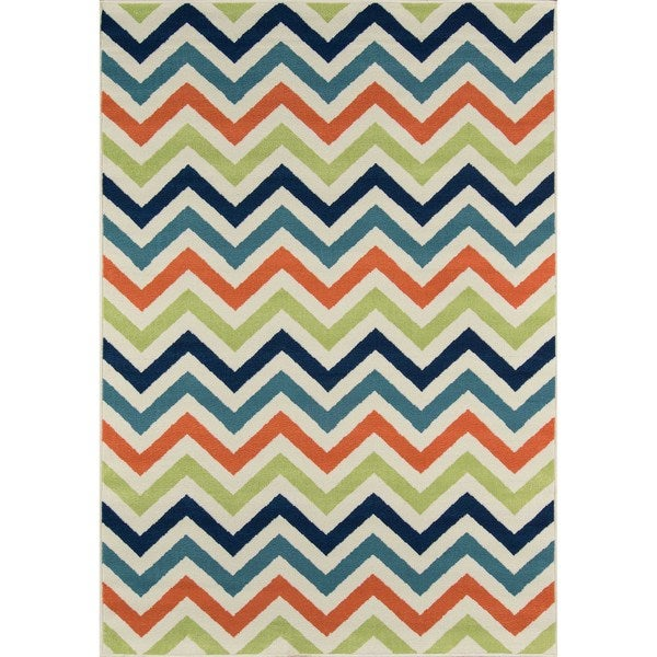 Momeni Baja Chevron Multicolor Indoor Outdoor Area Rug 6