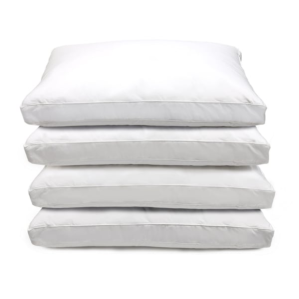 Optima-loft 233 Thread Count Jumbo-size Down Alternative Pillows (Set of 4)