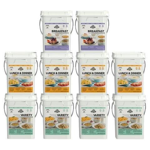 Augason Farms Deluxe 4-Month 1-Person Ten-Pail Kit Supply (SMU)