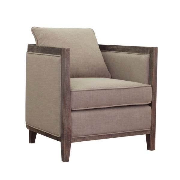 Elliot Beige Linen Lounge Chair Free Shipping Today