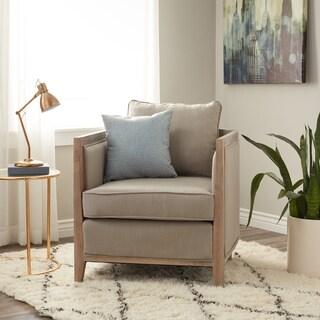 Carbon Loft Elliot Beige Linen Lounge Chair