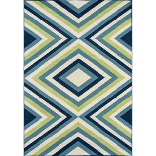 Momeni Baja Zig-Zag Multicolor Indoor/Outdoor Area Rug (1'8 x 3'7)
