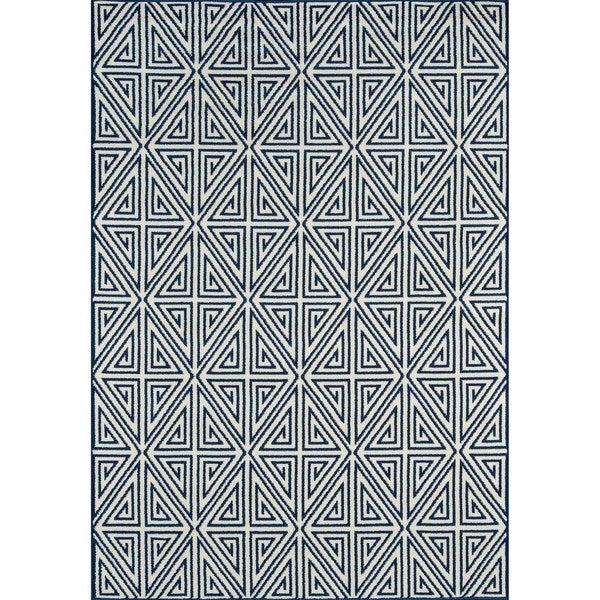 Momeni Baja Diamonds Navy Indoor/Outdoor Area Rug  (1'8 x 3'7)
