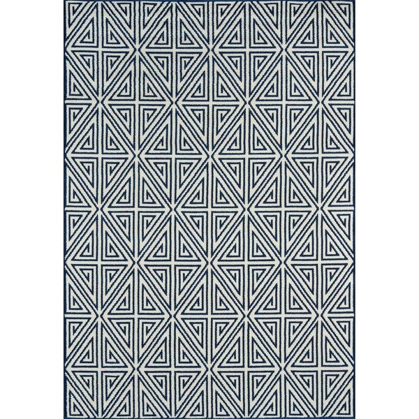 "Momeni Baja Diamonds Navy Indoor/Outdoor Area Rug - 1'8"" x 3'7"""
