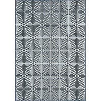 "Momeni Baja Diamonds Navy Indoor/Outdoor Area Rug - 8'6"" x 13'"