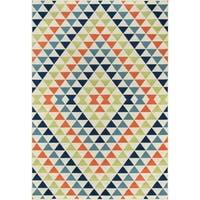 "Momeni Baja Kaleidoscope Multicolor Indoor/Outdoor Area Rug - 2'3"" x 4'6"""