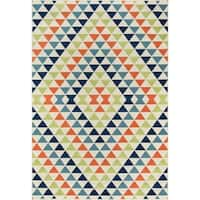 "Momeni Baja Kaleidoscope Multicolor Indoor/Outdoor Area Rug - Multi - 6'7"" x 9'6"""