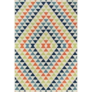 Momeni Baja Kaleidoscope Multicolor Indoor/Outdoor Area Rug (6'7 x 9'6)