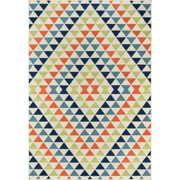 Momeni Baja Kaleidoscope Multicolor Indoor/Outdoor Area Rug (7'10 x 10'10)