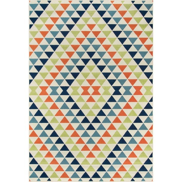 "Momeni Baja Kaleidoscope Multicolor Indoor/Outdoor Area Rug - Multi - 7'10"" x 10'10"""