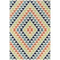 "Momeni Baja Kaleidoscope Multicolor Indoor/Outdoor Area Rug - 7'10"" x 10'10"""