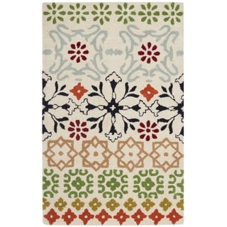 Safavieh Handmade Wyndham Ivory Wool Rug (3' x 5')