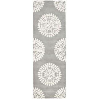 Safavieh Handmade Soho Light Grey/ Ivory Wool Rug (2'6 x 20')
